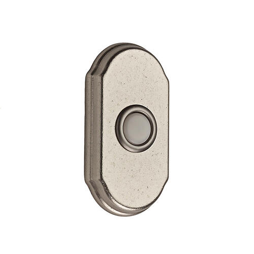 White Bronze BR7017 Arch Bell Button