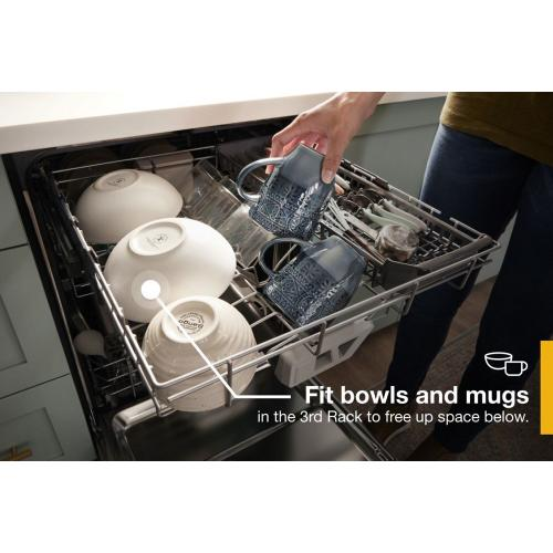 Whirlpool - Fingerprint Resistant Quiet Dishwasher with 3rd Rack & Large Capacity