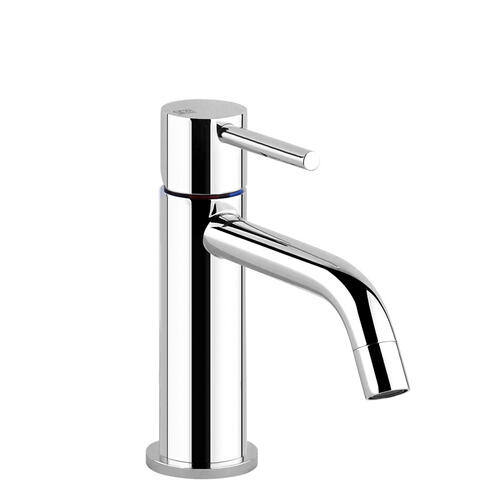 """Gessi - Single lever washbasin mixer without pop-up assembly Spout projection 5"""" Height 5-13/16"""" Drain not included - see DRAINS se ction Max flow rate 1"""