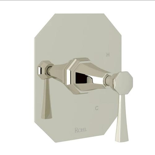 Deco Pressure Balance Trim without Diverter - Polished Nickel with Lever Handle