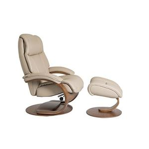 General C Manual Large Recliner With Footstool