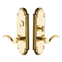 Polished Brass Stanford Escutcheon Entrance Set