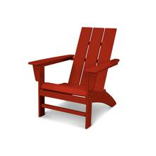 Crimson Red Modern Adirondack Chair