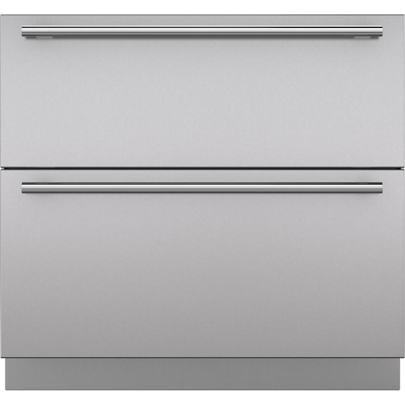 """Stainless Steel 36"""" Drawer Panels with Tubular Handles"""