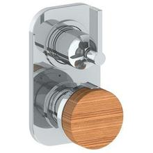 """Product Image - Wall Mounted Mini Thermostatic Shower Trim With Built-in Control, 3 1/2"""""""