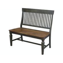 Slatback Bench in Hickory & Coal