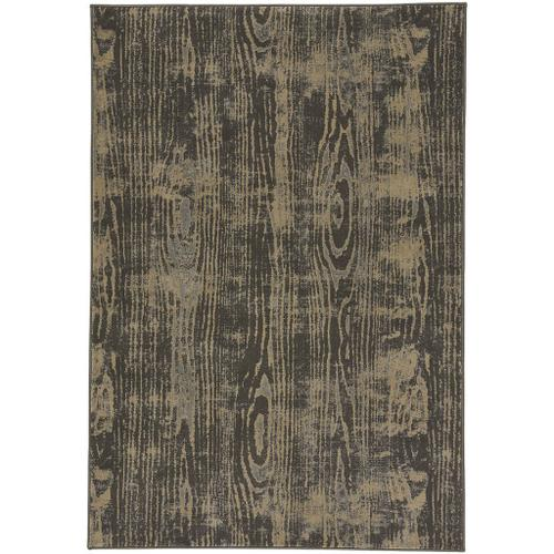 "Woodgrain Charcoal - Rectangle - 5'3"" x 7'6"""