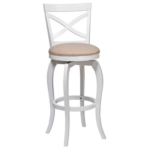 Ellendale Swivel Counter Stool - White