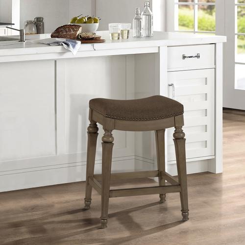 Vetrina Backless Counter Stool - Weathered Gray