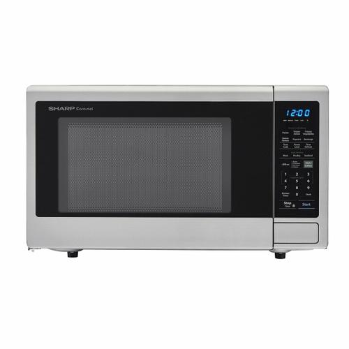 1.8 cu. ft. 1100W Sharp Stainless Steel Countertop Microwave Oven