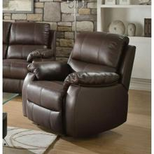 ACME Enoch Recliner - 52452 - Dark Brown Top Grain Leather Match