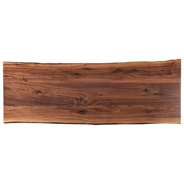 """See Details - Live Edge Crotch Walnut 109"""" Dining Table Top"""