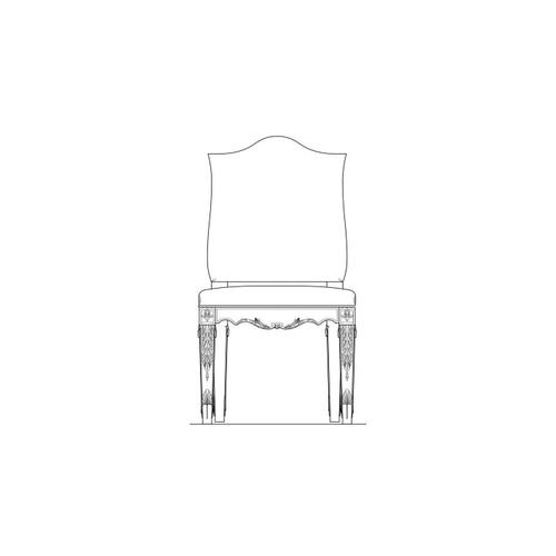 Thoroughbred Curlin Upholstered Side Chair - White Gesso