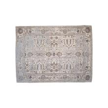 Product Image - 5' x 7' Woven Cotton Printed Rug, Distressed Finish, Multi Color