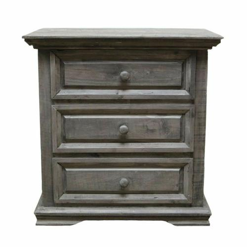 Million Dollar Rustic - Charcoal Gray Coliseo Night Stand
