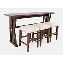 Fairview Oak Sofa Counter Dining 4pc Set