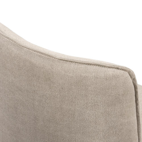 Heather Twill Stone Cover Aria Dining Chair