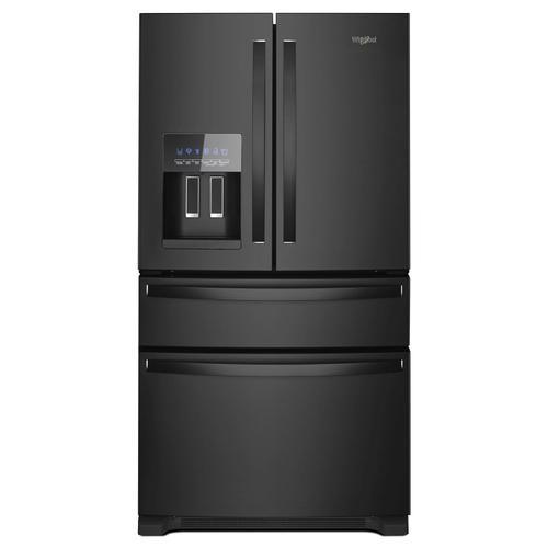 Whirlpool - 36-Inch Wide French Door Refrigerator - 25 cu. ft. Black