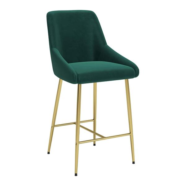 See Details - Madelaine Counter Chair Green