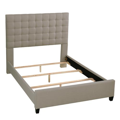 Bergen King Bed - Dove Gray