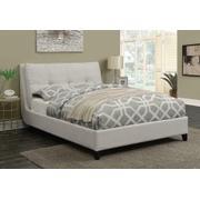 Amador Beige Upholstered Queen Platform Bed Product Image