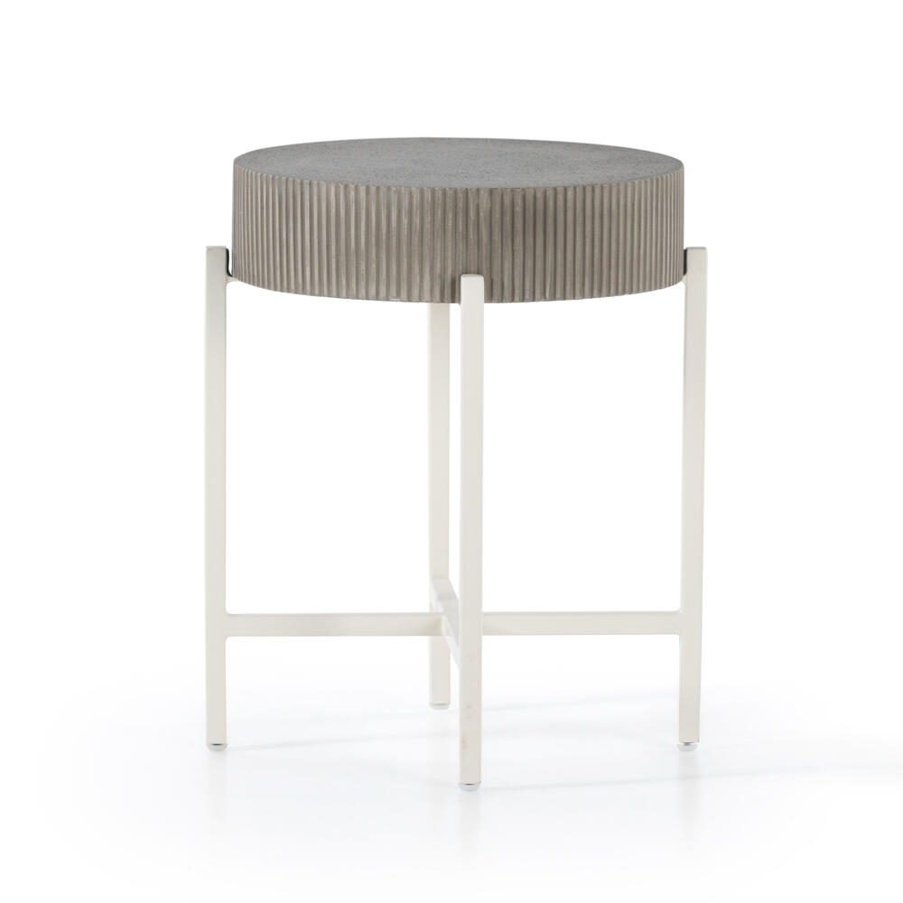 Grey Terrazzo Finish Jolene Outdoor End Table