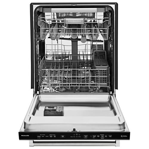 KitchenAid - 39 DBA Dishwasher with Fan-Enabled ProDry™ System and PrintShield™ Finish Black Stainless Steel with PrintShield™ Finish
