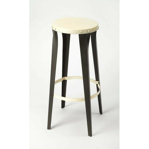 This backless iron barstool is a unique, modern addition to your dining room and breakfast nook high top table. They have a sturdy, four-legged design that provides a rustic, yet modern look that not only provides extra seating for your guests but also creates a modern, industrial style effortlessly in any room. With a circular top, allowing it to be placed in any direction, this lightweight design comes standard with a foot rest to ensure a comfortable resting place.