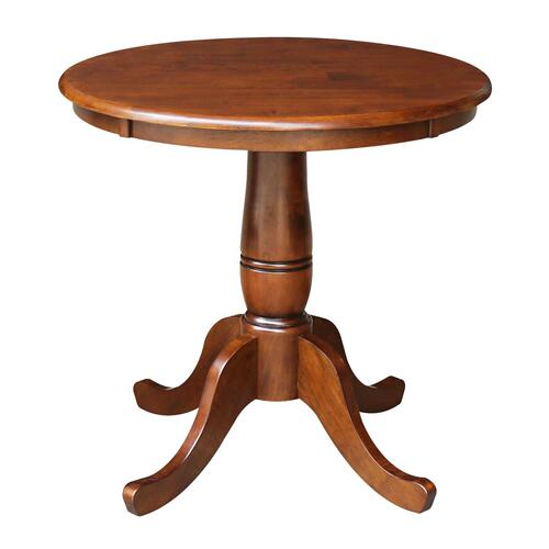 "John Thomas Furniture - 30"" Pedestal Table in Espresso"
