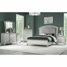 ACME Maverick Queen Bed - 21800Q - Fabric & Platinum