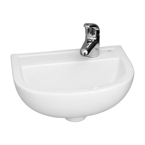 "Compact 15"" Wall-Hung Basin - Single-Hole Left"