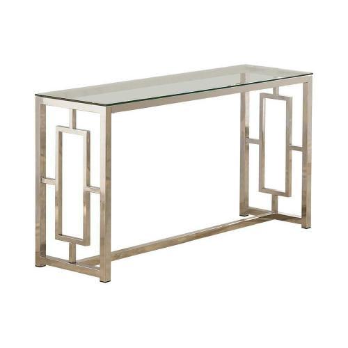 Occasional Contemporary Nickel Sofa Table