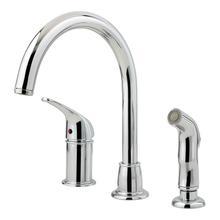 Polished Chrome 1-Handle Kitchen Faucet