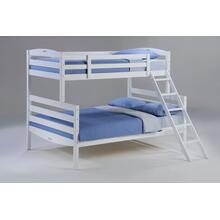View Product - Sesame Twin Full Bunk in White Finish