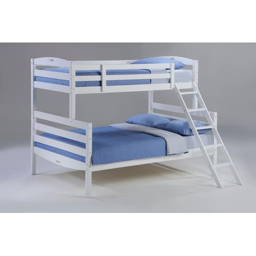 Night and Day Furniture - Sesame Twin Full Bunk in White Finish
