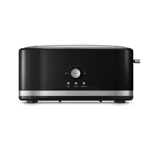 4-Slice Long Slot Toaster with High Lift Lever Onyx Black
