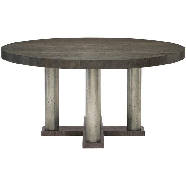 See Details - Linea Round Dining Table in Cerused Charcoal (384)