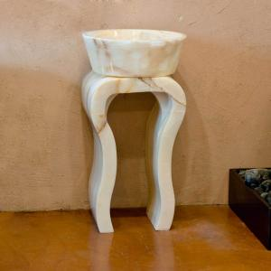 White Onyx Hairpin Pedestal Product Image