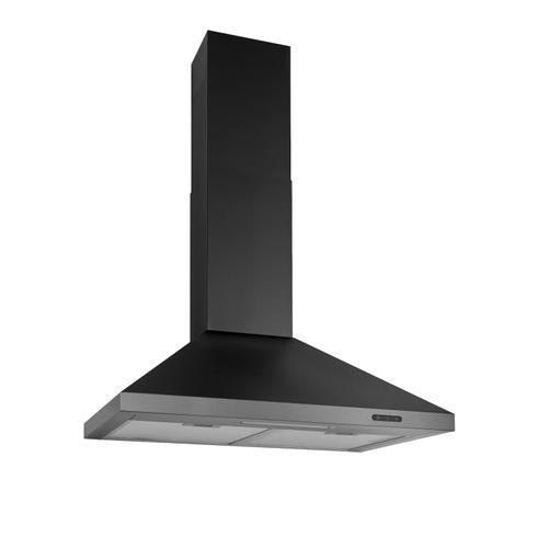 Broan® 30-Inch Convertible Wall-Mount Chimney Range Hood, 400 CFM, Black Stainless Steel