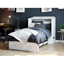 View Product - Southampton Murphy Bed Chest Twin Extra Long White with Charging Station