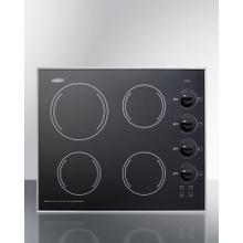 """See Details - 24"""" Wide 230v 4-burner Radiant Cooktop"""