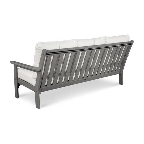 Black & Canvas Granite Vineyard Deep Seating Sofa