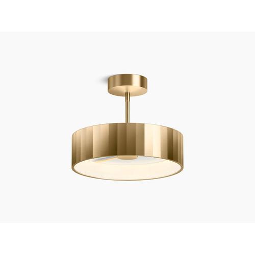 Modern Brushed Gold Semi-flush LED Light