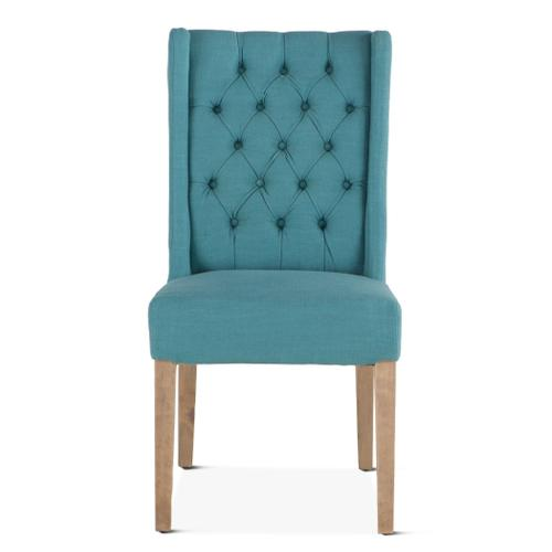 Lara Dining Chair Teal with Napoleon Legs