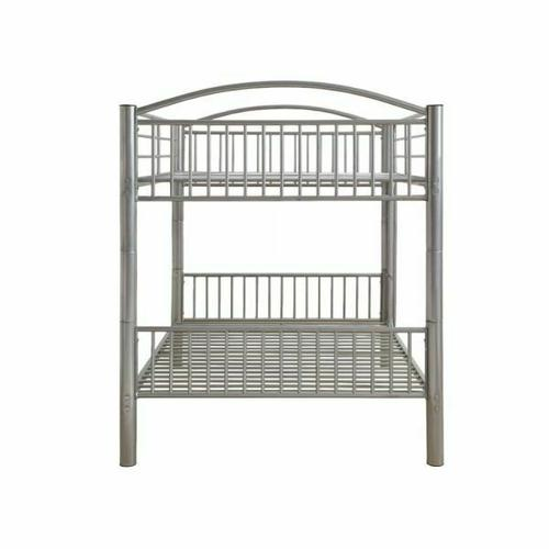 ACME Cayelynn Full/Full Bunk Bed - 37390SI - Silver