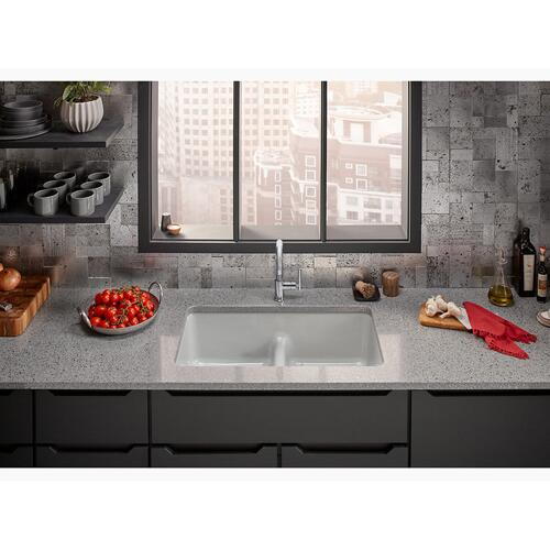 "Cashmere 33"" X 18-3/4"" X 9-5/8"" Smart Divide Top-mount/undermount Double-equal Kitchen Sink"