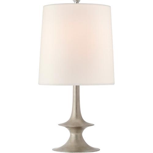 AERIN Lakmos 26 inch 100 watt Burnished Silver Leaf Table Lamp Portable Light, Medium