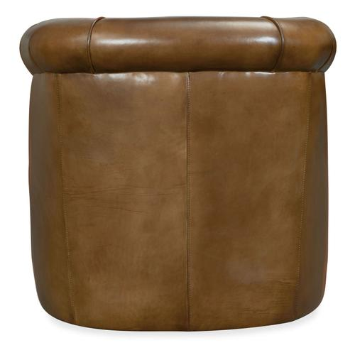 Living Room Axton Swivel Leather Club Chair