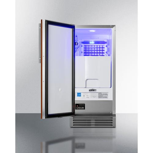 Summit - Built-in 50 Lb. Clear Icemaker, ADA Compliant