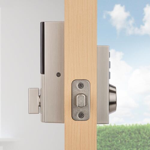 Kwikset - 914 SmartCode Contemporary Electronic Deadbolt with Z-Wave Technology - Satin Nickel
